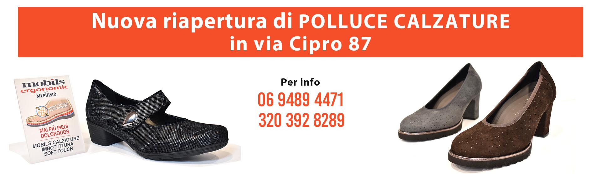 Polluce Calzature comode a Roma Prati fermata metroCipro